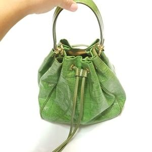 Antonio Melani Croc Embossed Bucket Bag